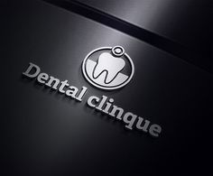 Dental Clinique Logo Template by Ramzi Hachicho, via Behance Dental Clinic Logo, Dentist Logo, Dentist Clinic, Dental Reception, Dental Business Cards, Dental Images, Medical Gifts, Dental Center, Dental Facts
