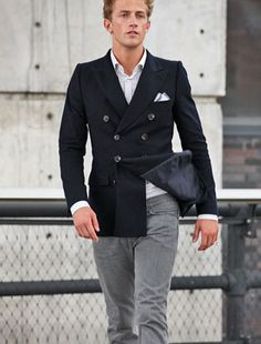 a double-breasted blazer.. intriguing..