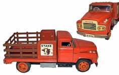 Tin Friction TOYOTA S-5 Diesel Stake Truck -- WORLDWIDE SHIPPING #Unknown