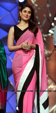 Beautiful casual saree to wear to a function - love the colours especially that baby pink.