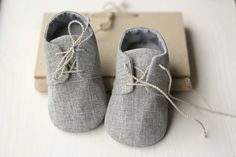 grey baby shoes