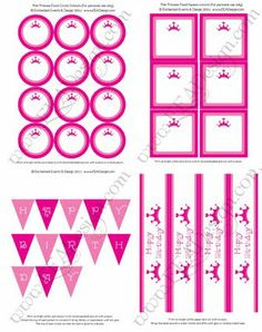FREE princess party printables!