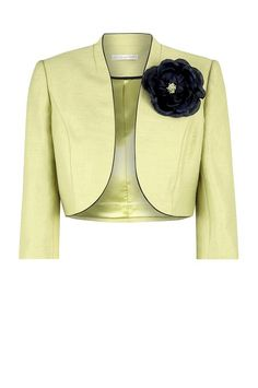 Buy Jacques Vert Lime Piped Bolero Jacket, Yellow from our Women's Coats & Jackets range at John Lewis & Partners. Blazer Outfits, Blazer Fashion, Fashion Wear, Womens Fashion, Bolero Jacket, Jacket Dress, Blazer Jacket, Blouse Designs, Cool Outfits