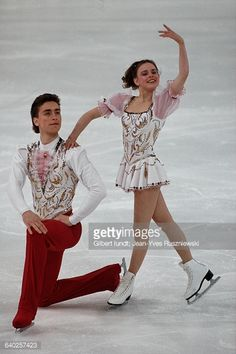 Russian figure skaters Yekaterina Gordeyeva and Sergei Grinkov.