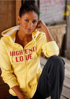 Label hoody, yellow