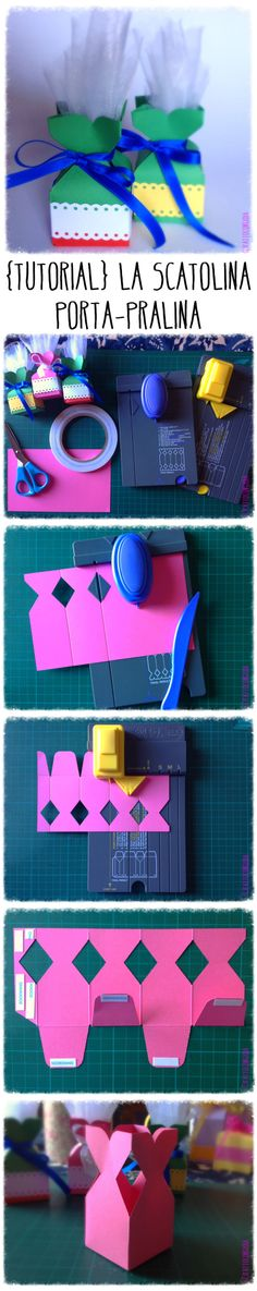 Make your own mini-favors using both the Gift Bag and Candy Box punch boards from We'r'Memory Keepers - FattoConGioia