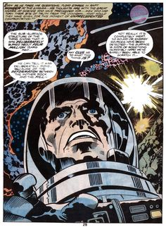 From the 1976 Marvel Treasury Edition adaptation of the movie, Kirby sees stars in 2001: A Space Odyssey.
