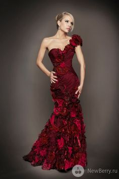 This red gown is stunning. I would love to wear it.  Mac Duggal Couture Dresses