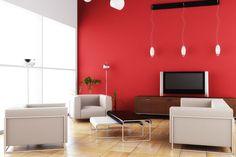 Colores para pintar una Sala de Estar en dos Tonos - Para Más Información Ingresa en: http://fotosdedecoraciondesalas.com/colores-para-pintar-una-sala-de-estar-en-dos-tonos/