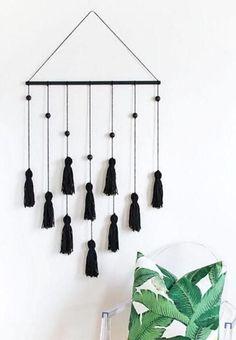 Call Me Noir Tassel Wall Hanging