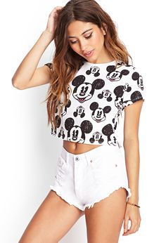 Smiling Mickey Print Tee | FOREVER21 #SummerForever