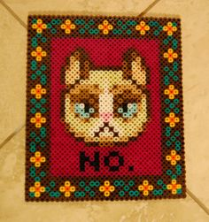 Grumpy cat mit  Bügelperlen