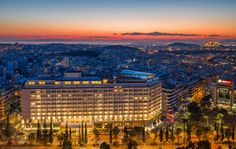 Divani Caravel Hotel in Athens ! Attica Greece, Leading Hotels, Beautiful Hotels, World Traveler, Luxury Travel, Athens, Vacation, Mansions, Photo And Video