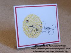 Million and One; Betsy's Blossom; Stampin' Up!; Quick Handmade Card; Tamara's Paper Trail
