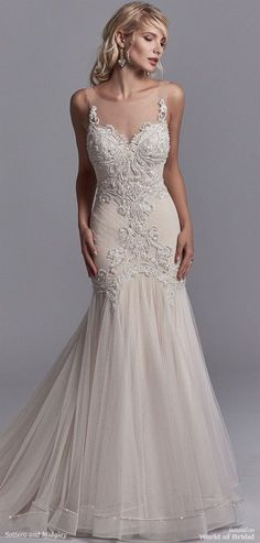 Sottero and Midgley Spring 2018 sexy wedding dress Sweetheart Wedding Dress, Sexy Wedding Dresses, Elegant Wedding Dress, Wedding Attire, Bridal Dresses, Wedding Gowns, Fit And Flare Skirt, Beautiful Gowns, Dream Dress