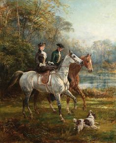 """The Morning Ride"" (1902) by Heywood Hardy (1842-1933)."