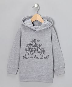 Put the pedal to the metal with this cozy cotton hoodie that features a warm, comfy fit and a cute cartoon drawing across the front. Because that's just how little ones roll.