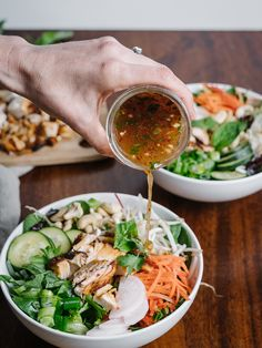Home Made Doggy Foodstuff FAQ's And Ideas Vietnamese Noodle Bowls Recipe Gluten Free - The Effortless Chic Asian Recipes, Healthy Recipes, Ethnic Recipes, Healthy Vietnamese Recipes, Free Recipes, Vermicelli Recipes, Vermicelli Noodles, Vermicelli Salad, Noodle Bowls