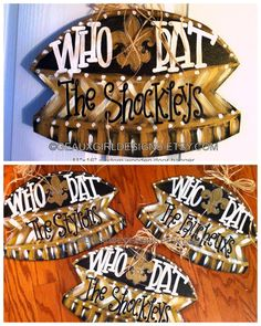 GEAUX GIRL DESIGNS 16x11 Hand Painted Who Dat New Orleans Saints Superdome Door Hanger by geauxgirldesigns, $45.00