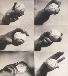 La belleza del béisbol está en los pequeños detalles: Hay diversos modos de coger la pelota antes del lanzamiento.