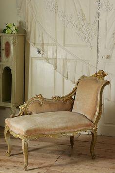 french antique chaise longue antique