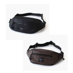 Korea Waist Fanny Pack Cross Shoulder Bag Lori Big Hip sack Hipsack Faux Leather