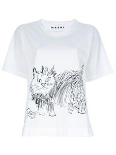 Marni Illustrated Cat T-Shirt