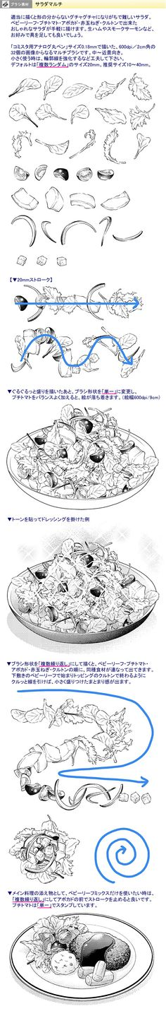 How to Draw Salad :)))