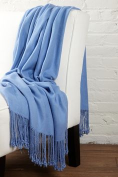 periwinkle cashmere blanket