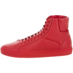 Pre-owned Givenchy 2017 Urban Street High-Top Sneakers ($375) ❤ liked on Polyvore featuring men's fashion, men's shoes, men's sneakers, red, mens high top shoes, givenchy mens sneakers, mens black hi top sneakers, mens ties and urban outfitters mens sneakers