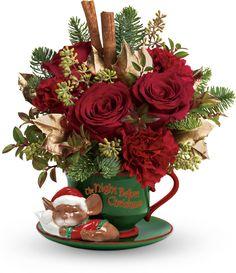 Save 25% at Teleflora with coupon code TFXMHYLQ  Teleflora's Send a Hug Night Before Christmas