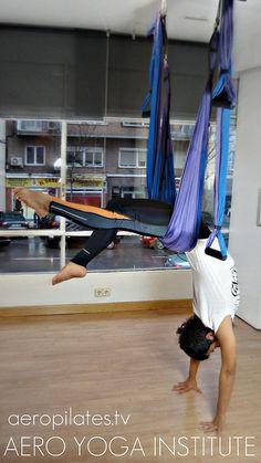 aerial Yoga, aerial Yoga International teacher Training www.aerialyoga.tv  Aero Yoga España (Air Pilates) by yogacreativo, via Flickr