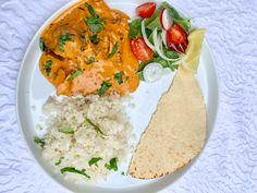 Keto Butter Chicken Keto Indian Food, Indian Food Recipes, Keto Recipes, Ethnic Recipes, Cauliflower Rice Salad, Keto Curry, Full Fat Greek Yogurt, Butter Chicken, Keto Chicken