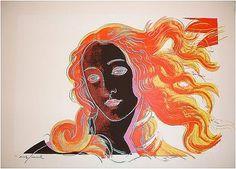 Andy Warhol, Details of Renaissance Paintings:  Sandro Botticelli, Birth of Venus (1482), 1984