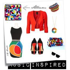 """Outfit inspired by records - Cesare Cremonini, """"La Teoria dei Colori""""   Read the post: http://litalospagnola.blogspot.it/2013/07/i-look-ispirati-ai-dischi-cesare.html  #music #fashion"""