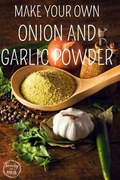 MAKE YOUR OWN ONION AND GARLIC POWDER!  Garlic powder and onion powder are my go to spices behind salt and pepper.  But I ran out. And spices can sometimes be expensive (unless you can find those rare coupons), it just wasn't in the budget this week. So I got creative.  Here is a DIY way to make your own onion or garlic powder recipe!