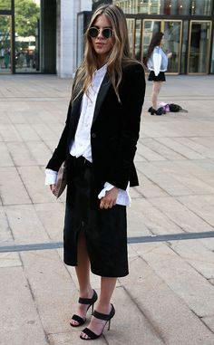Poppy Lissiman from New York Fashion Week Spring 2015 Street Style Poppy flaunted a hippie-chic vibe.