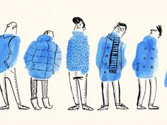 Bus Stop People by Esther Aarts