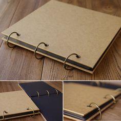 New Diy handmade retro pure kraft paper cover photo album loose-leaf album troqueladoras scrapbooking wedding albuns de fotos