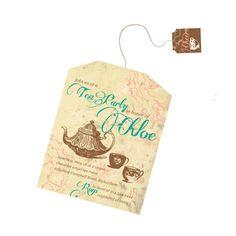 Tea Bag Tea Party Invitation