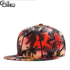 New 3D Color Beach Trees Baseball Cap For Men Women Hip Hop Hats Snapback Caps Leisure gorras de beisbol Male Females Sunhat
