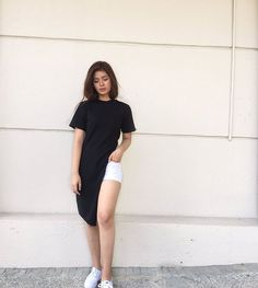 Slit Top Fashion of Loisa Andalio Ronnie Alonte, New Girl Style, Filipina, Simple Style, Ootd, Street Style, Gowns, Actresses, Shirt Dress