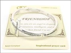 Silver Cross Friendship Bracelet with Stones