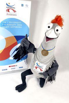 Allwin the Crane #EuropeanAthleticsChampionships2006 #Sweden #Sport #Mascot