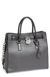 MICHAEL Michael Kors 'Large Hamilton - Microstud' Leather Tote available at Nordstrom.