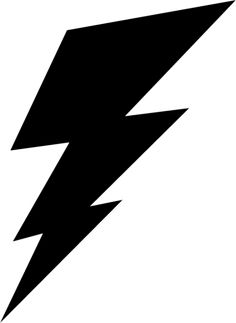 free lightning bolt stencil lightening clip art templates rh pinterest com clip art lightning bolt clipart lightning bolt