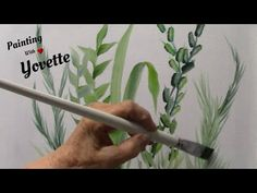 How to Paint Various Floral Foliage, Oil Painting Techniques With Yovette - YouTube