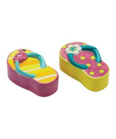 Take a look at this Sunshine Sandal Salt & Pepper Shakers by Boston Warehouse on #zulily today!