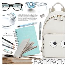"""""""In My Backpack"""" by totwoo ❤ liked on Polyvore featuring Anya Hindmarch, Kate Spade and Sharpie"""