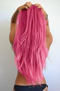 Pink hair...don't care.! Love this color